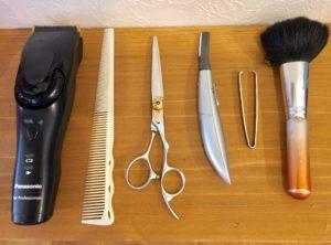 美容室,眉毛,道具
